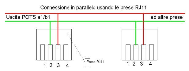 Schema Cablaggio Cavo Telefonico : Come collegare due prese rj in parallelo