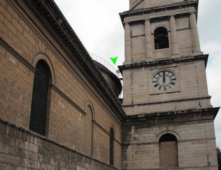Satellite Dish on the Basilica of St. Paul (Rome, 20 June 2009)